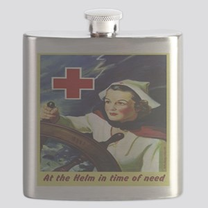 Nurse at the Helm Flask