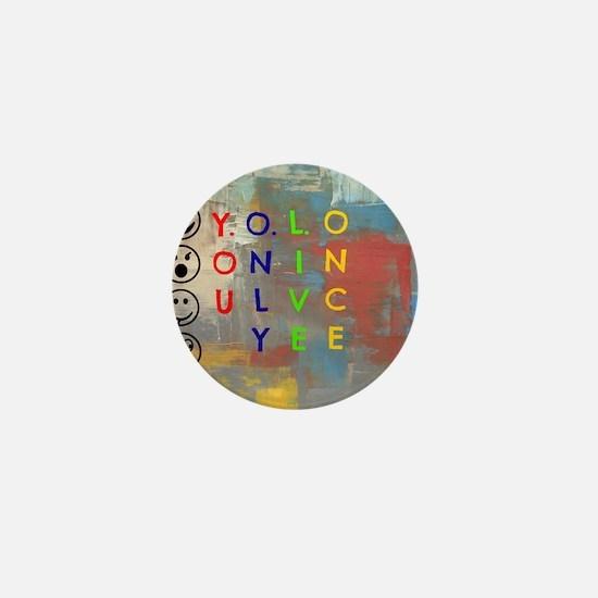 Y.O.L.O Mini Button
