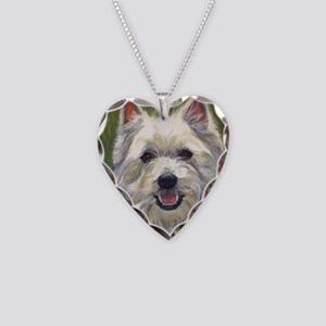 Happy Westie Necklace Heart Charm