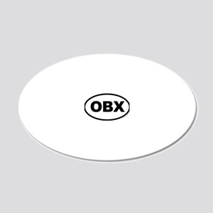 OBX, Outer Banks North Carol 20x12 Oval Wall Decal