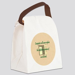 Button Lg Canvas Lunch Bag