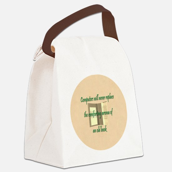 Button Lg Canvas Lunch Bag