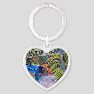 Blue Heaven New View framed print Heart Keychain