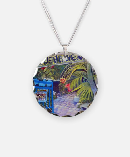 Blue Heaven New View framed  Necklace