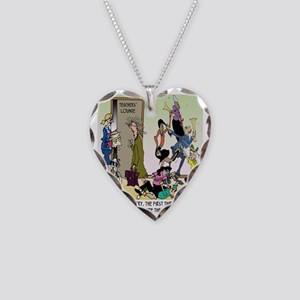The 1st 30 Years of Teaching Necklace Heart Charm