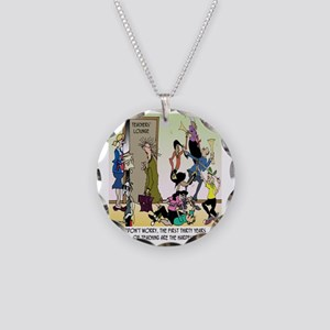 The 1st 30 Years of Teaching Necklace Circle Charm