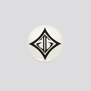 JG MMA Diamond White Mini Button