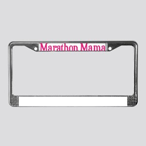 Marathon Mama License Plate Frame