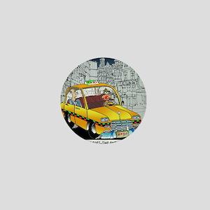 Reindeer Cabbie Mini Button