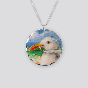 Sammy The Seagull Smokes A C Necklace Circle Charm