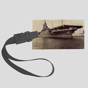 USS Lake Champlain cv calendar Large Luggage Tag