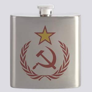 HAMMER SICLE  THE STAR Flask