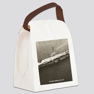 uss lake champlain cva framed pan Canvas Lunch Bag