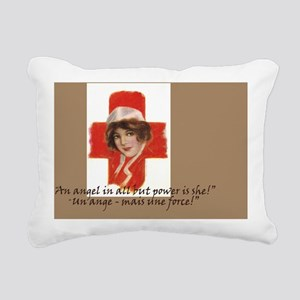 French Red Cross Poster  Rectangular Canvas Pillow