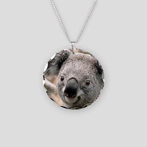 koala Necklace Circle Charm
