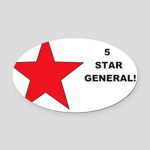 5 Star General Oval Car Magnet