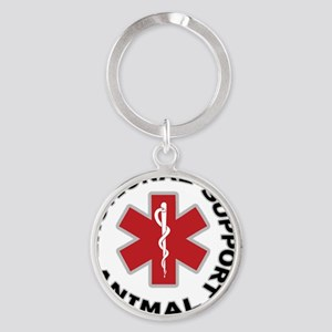 Emotional Support Animal Button Round Keychain