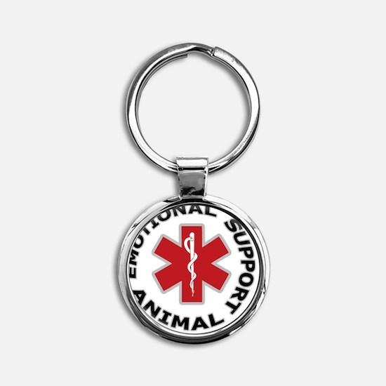 Emotional Support Animal Button Round Keychain