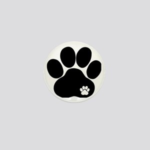Double Paw Print Mini Button