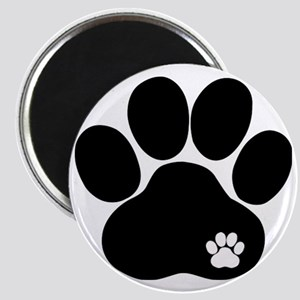 Double Paw Print Magnet