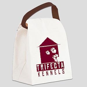 Trifecta Kennels DARK logo Canvas Lunch Bag