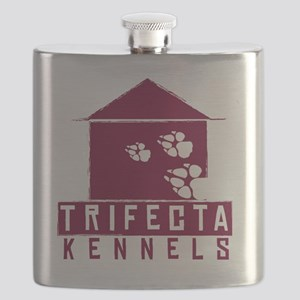 Trifecta Kennels DARK logo Flask