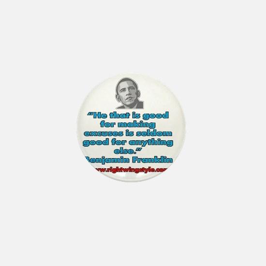 Benjamin Franklin Quote Mini Button
