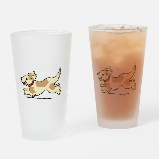Dog Gate Open Drinking Glass