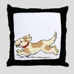 Dog Gate Open Throw Pillow
