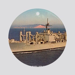 uss mars framed panel print Round Ornament