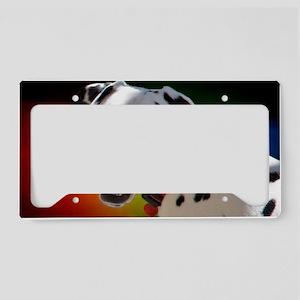 Dalmatian In Color License Plate Holder