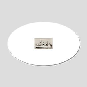 uss mazama rectangle magnet 20x12 Oval Wall Decal