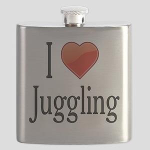 I Love Juggling Flask