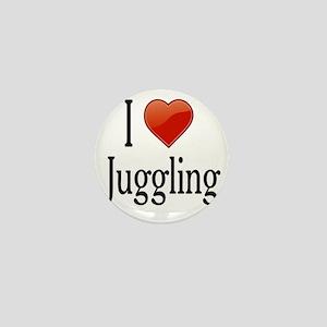 I Love Juggling Mini Button