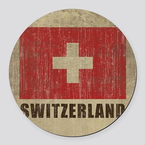 Vintage Switzerland Round Car Magnet