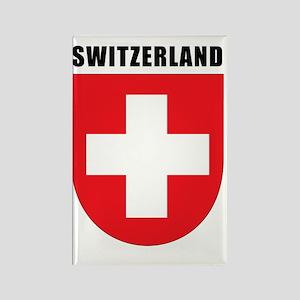 Switzerland Coat Of Arms Rectangle Magnet