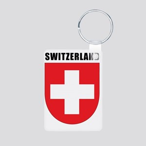 Switzerland Coat Of Arms Aluminum Photo Keychain