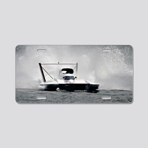 hydroplane Aluminum License Plate