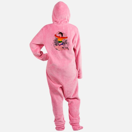 LGBT Pin Up Girl Footed Pajamas