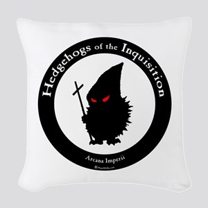 Hedgehogs of the Inquisition! Woven Throw Pillow