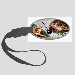 god gave rock and roll to you Large Luggage Tag