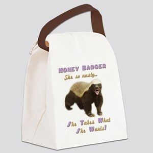 honey badger takes what she wants Canvas Lunch Bag