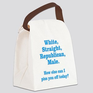 White Straight Republican Male Canvas Lunch Bag