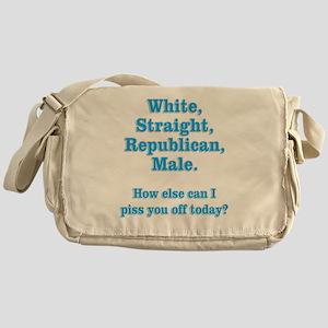White Straight Republican Male Messenger Bag