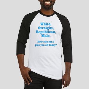 White Straight Republican Male Baseball Jersey