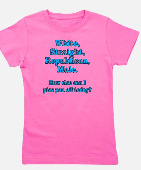 White Straight Republican Male Girl's Tee