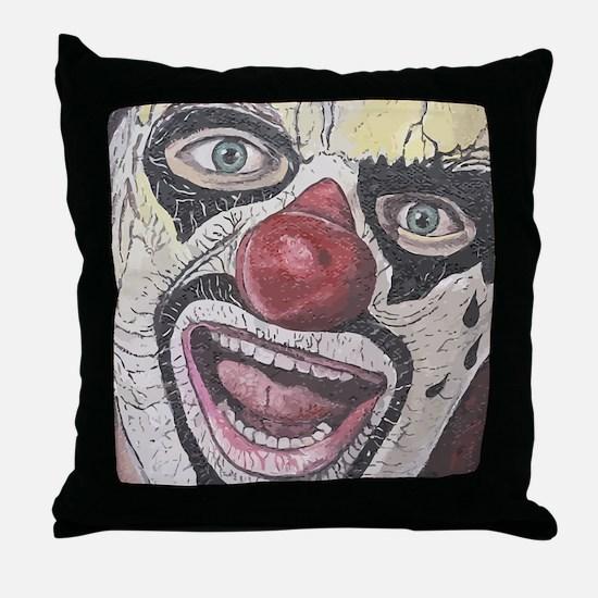 Gothic Clown Throw Pillow