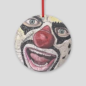 Gothic Clown Round Ornament