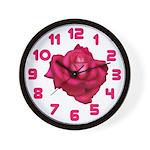Beautiful Pink Rose Wall Clock