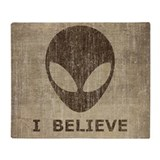 Alien Fleece Blankets